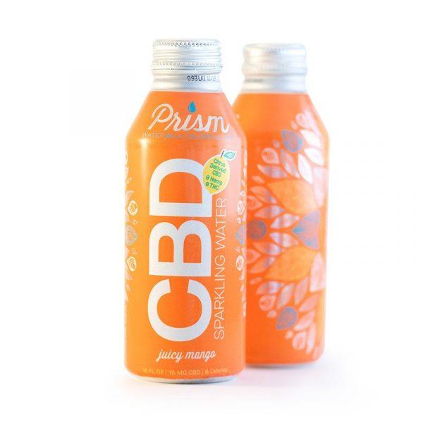Prism Sparkling CBD Water :: Juicy Mango